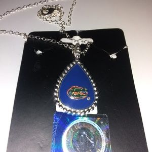 Jewelry - Florida Gators necklace 9 inch chain comes with ho
